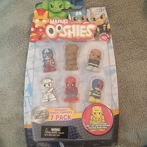 NWT Ooshies pencil toppers 7 pack